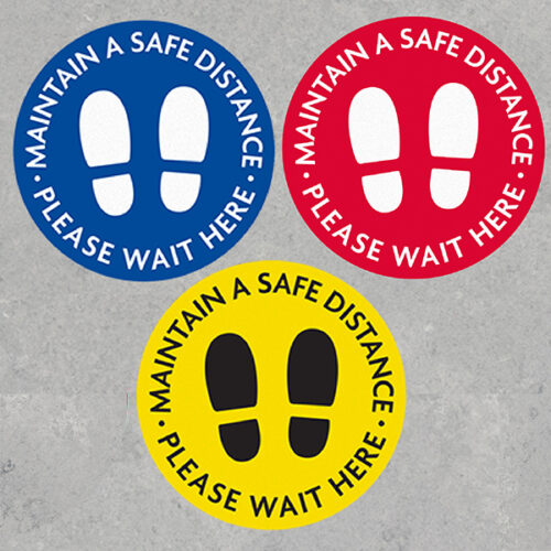 Safe Distance Floor Decals
