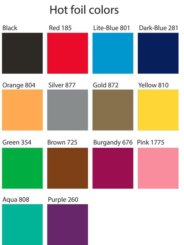 Foil Stamp Color Guide Sanke Keg Caps